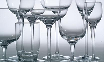 NO CHIPPED GLASSWARE