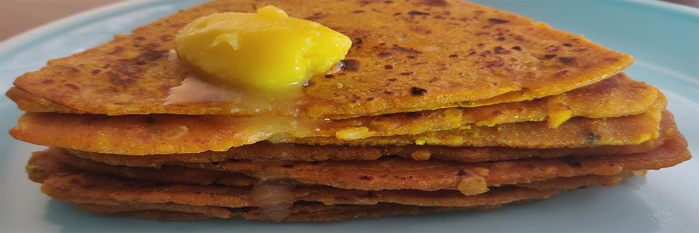 Masala Dal Paratha (made with Leftover Dal)