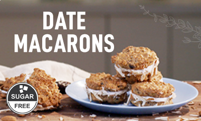 Date Macarons in Microwave