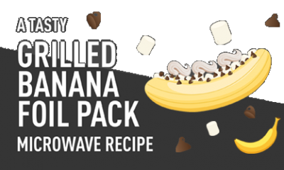 Grilled Chocolate Banana Foil Pack Recipe