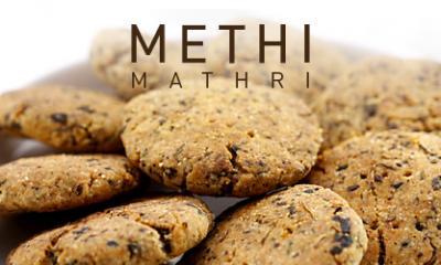Methi Mathri in Microwave