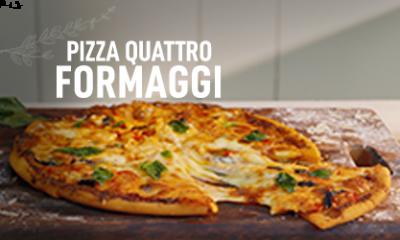Pizza Quattro Formaggi (Four Cheese Pizza) in Microwave