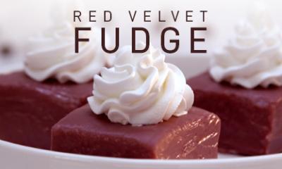 Red Velvet Fudge in Microwave Oven